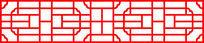 简单的中式亭子装饰图案