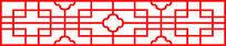 简单的中式元素亭子装饰图案