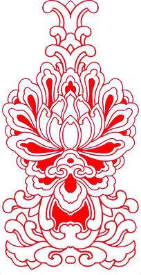 莲花灯图案CAD