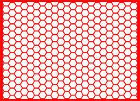 特色六角形镂空图案
