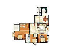 现代住宅室内平面