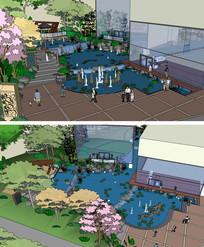销售中心环境设计草图大师SU模型