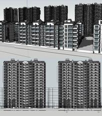 扬州新中式住宅模型建筑草图大师SU模型