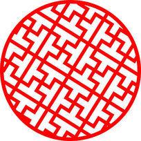 圆形镂空图案