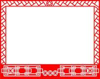 中式花纹镂空图案