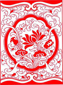 中式莲花装饰图案