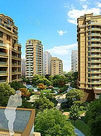 住宅中心绿化效果图
