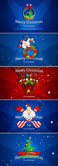ae圣诞新年节日包装视频模板