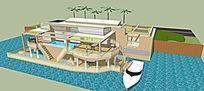滨水别墅设计模型