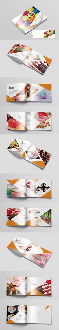橙色时尚蛋糕画册