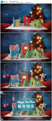 高清圣诞新年节日贺卡视频