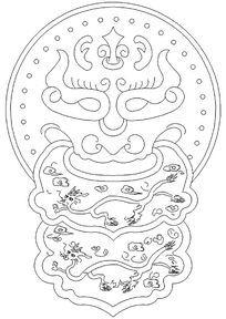 古建龙纹样式门环