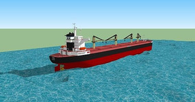 航海货轮模型 skp