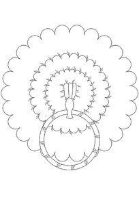 花形门环CAD样式图