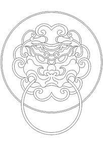 龙纹图案门环
