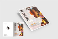 霓虹灯个性杂志封面