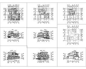 三层日式别墅全套建筑施工图