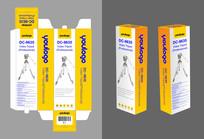 三脚架彩盒包装设计 CDR