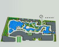 园林景观平面图psd分层