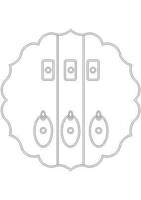圆形花纹门环