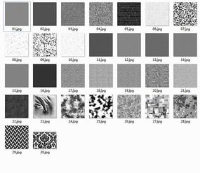 地毯布料黑白贴图