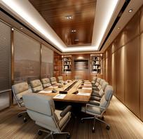 股票公司会议室3DMAX模型和效果图