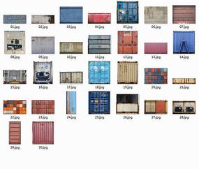集装箱金属贴图