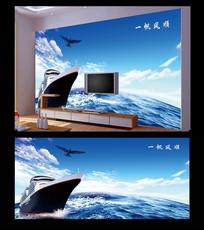 时尚一帆风顺电视背景墙