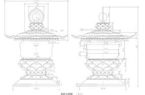 中式景观灯具详图