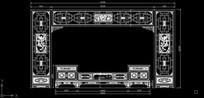 中式客厅电视柜背景墙