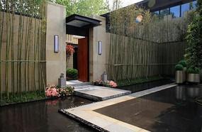中式庭院水景铺装
