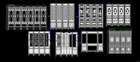 中式围屏折扇屏设计合集 dwg