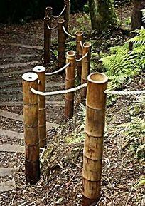 竹制护栏 JPG
