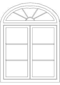 长方形窗户CAD