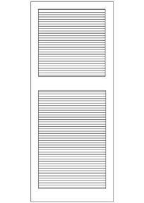 长方形横木纹门