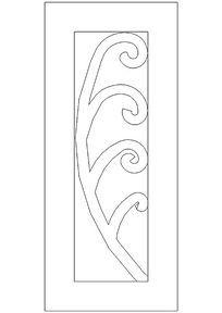长方形花纹图案门