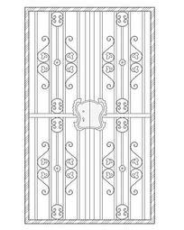 长方形花纹图案铁艺门