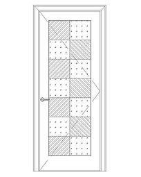 长方形图案纹理门