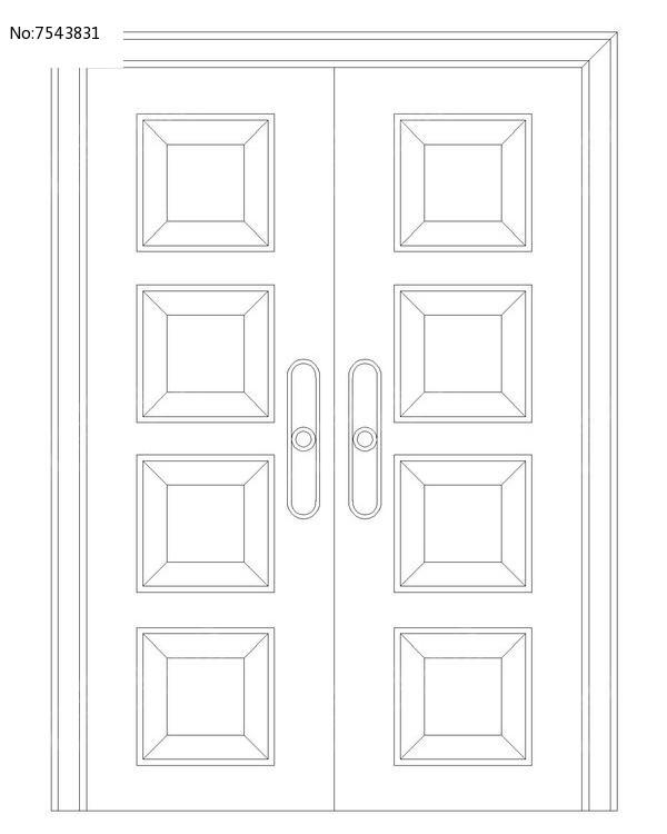 常用会议室双扇门图片