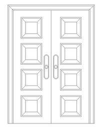 常用会议室双扇门