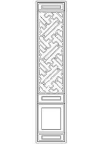 传统隔扇门图块