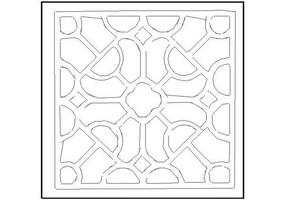 方形花纹镂空窗花