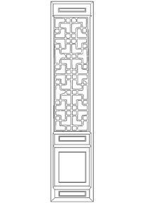 隔扇门图块CAD