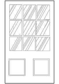 格子玻璃门CAD图块