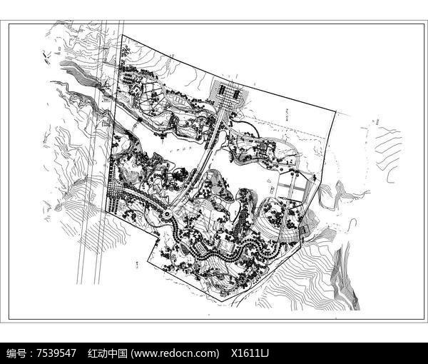 公园景观规划平面布置图图片