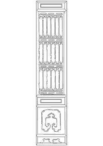 古典隔扇门CAD图块