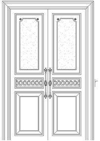 豪华建筑门CAD图块