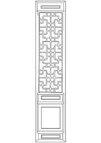 花纹隔扇门图块