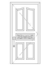 简单花纹图案门