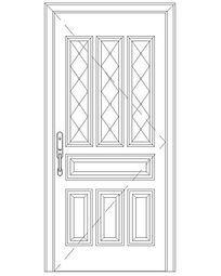 几何花纹单扇门